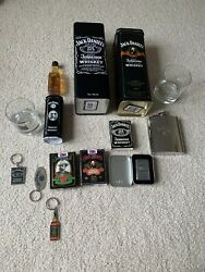 Authentic Jack Daniels Zippo Lighter New And Usa Printed Cards Glasses Tins