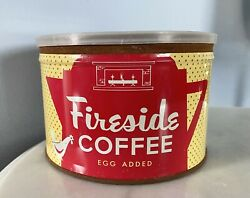 Rare Vintage Fireside Coffee Egg Added Tin Can Key-wind H.h. Hixson Chicago Il
