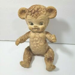 Rubber Jointed Squeek Bear Vintage Toy Viceroy Plastic Squeeze Teddy Bear