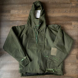 Military Vintage 70and039s Anorak Chemical Jacket Mens L Army Green Smock War Rare