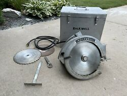 """Rockwell Porter Cable 12"""" Extra Heavy Duty Saw Model 542 With Case Rare Circular"""