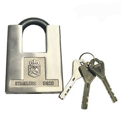 Lot Of 38 Stainless Steel Commercial Heavy Duty Padlock 60mm All Keyed Different