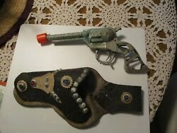 Geo. Schmidt Hopalong Cassidy Diecast Toy Cap For Parts And Unbranded Holster
