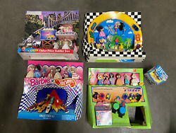 Lot Of 4 - Vintage Mcdonald's Hot Wheels And Barbie Happy Meal Toy Display