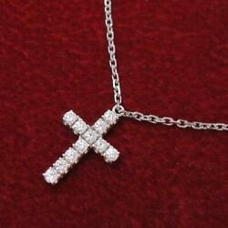 Symbol Cross Necklace Free Gift Wrapping Rank Secondhand _29591
