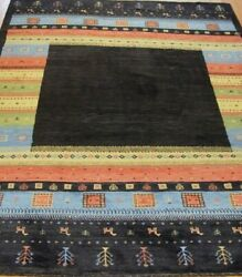 6'9 X 9'6 Hand Knotted Gabbehh Tribal Wool Modern Fine Rug Animals Goats Tree
