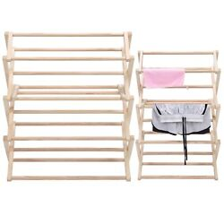 Wooden Clothes Drying Rack Collapsible Garment Laundry Dryer Hanger Rack Mn