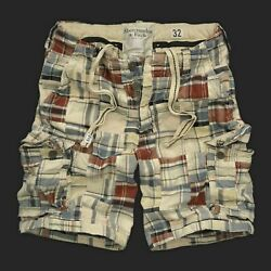 Abercrombie And Fitch Hollister Co. Patchwork Cargo Shorts Nwt