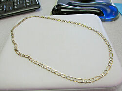 Menand039s 22 Inch 14k Solid Gold Figaro Chain Necklace 18.1 Grams Make Offer