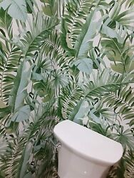 Peel And Stick Wallpaper Tropical Palm Green Wall Furniture Contact Paper 30 Sq Ft