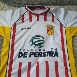 Rivelino Youth Deportivo Pereira Jersey Size Large White Yellow Red Soccer