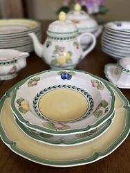 Villeroy And Boch French Garden Dinnerware Set Over 50 Pieces