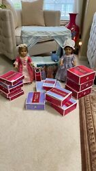 American Girl Doll 18in Retired Elizabeth And Felicity With Accessories