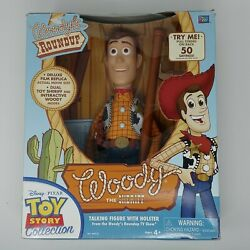 Rare Toy Story Woody The Sheriff Talking Figure Holster Thinkway Toys No Hat 90s