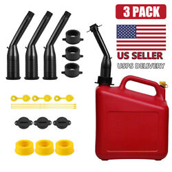 3 Pcs Replacement Gas Can Spout / Nozzle And Vent Kit For Plastic Gas Cans Usa