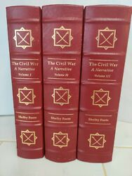 The Civil War A Narrative Shelby Foot Signed 1st Easton Press 1974 1st Edition