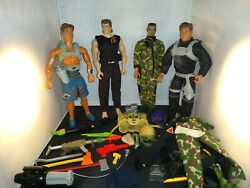 12 Inch Gi-joe/action Man Figures With Accessories Mixed Lot