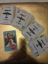 Vintage Original 1943 Wwii Coca-cola, Airplane Spotter Playing Cards
