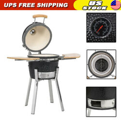 Kamado Barbecue Grill Smoker Ceramic Outdoor Bbq Wood Grilling Cooking