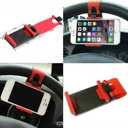 1pcs Car Steering Wheel Clip Mount Holder Cradle Stand For Mobile Phone Iphone