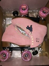 Discontinued Moxi Lolly Skates Strawberry Pink New Mens 6 W 7/7.5 Lollies Rare