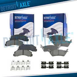 Front And Rear Ceramic Brake Pads For 2012 2013 2014 2015 2016 2017 Ford F-150