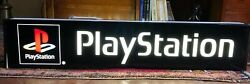 Original Playstation Sign Vintage Sony Videogame Neon Lighted Console Ps1 1990s