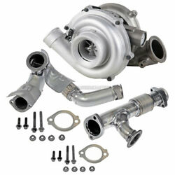 Turbo Turbocharger W/ Up Pipes For Ford Excursion 6.0l Powerstroke Diesel 03-04