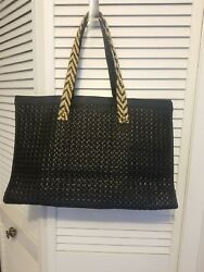 New Anthropologie Deluxe Tote Bag Purse Shopper, Nnt Black