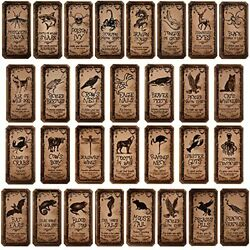 120 Pieces Animal Apothecary Bottle Labels Stickers Halloween Bottle Label Party
