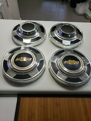 Set Of 4 1977-87 Chevy 1/2 Ton K10 Truck 4x4 10 Dog Dish Hubcaps