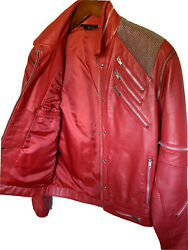 Rare Vintage 1980s Leather Michael Jackson Beat It Jacket - Collector Condition