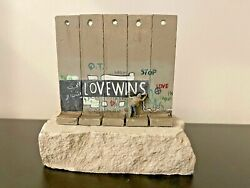 Banksy - Walled Off Hotel - Wall Sculpture - Love Wins