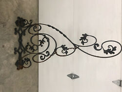 Large Heavy Duty Antique Wrought Iron Wall Bracket Sign Holder Hanger Wow