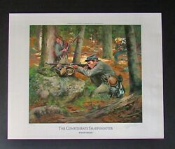 Don Troiani - Confederate Sharpshooters - Collectible Civil War Print - Mint