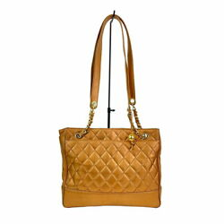 Chain Tote Bag Lambskin Gold Gd Fittings Shoulder Women 's Secondhan _775
