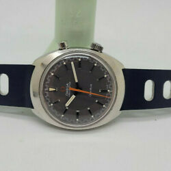 Rare Vintage 1970and039s Omega Chronostop Grey Dial Manual Wind Manand039s Watch