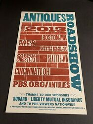 Pbs Antiques Roadshow Locations For 2013 Poster Is 2012 Hatch Show Print Poster
