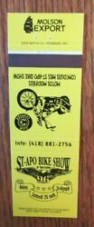 Molson Export Beer Molson Brewing Co. Motorcycle Bike Show Matchbook Cover E1