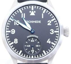Archimede Pilot Watch Black Dial Stainless Steel Menand039s Watch German Made