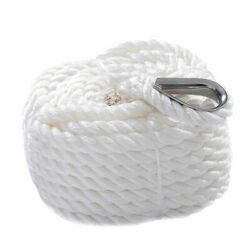 Goplus 1/2x100and039 Twisted Three Strand 6600lbs Nylon Anchor Rope Boat Sailboat