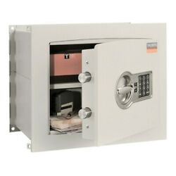 High Security Flat Recessed Wall Safe W/ Combination Lock For Valuables Storage
