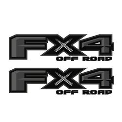 FX4 OffRoad Black Decals Bullet Stickers Truck Side Off Road Bed