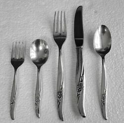 Baby And Youth Feeding Set Flatware Rose Song Silverplate 1881 Rogers Oneida Ltd