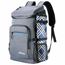 Cooler Backpack 35 Cans Leakproof Insulated Ice W Picnic Mat Soft Beach Cooler $52.91