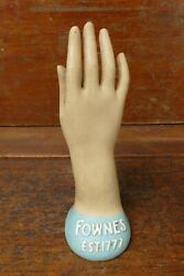 Vintage Fownes Est. 1777 Hand Glove Advertising Mannequin Store Display Sign
