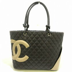 Cambon Line Large Tote Bag Women 's Silver Fittings Lamb _2616