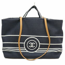 Denim Tote Back Navy Women And039s Secondhand _4242