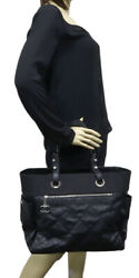 Puridrititz Large Tote Bag Coated Canvas Black A34210 _4372