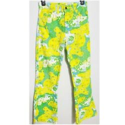 Lilly Pulitzer Vintage Palm Beach Printed Jeans Men's Size 28in Hippo Bright 70s